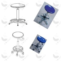 Cheap Price with CE certificate FRP surface seat laboratory stool
