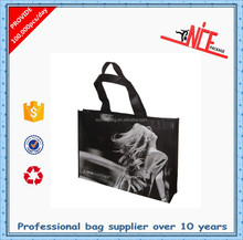 several patterns printed silk printing non woven shopping bag