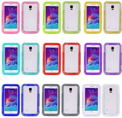 Silicone Membrane Screen Protector +PC Full Body Cover Waterproof Case for Galaxy Note 4 N910 with Strap