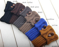 2014 2015 fashion women knitted 100% acrylic boot cuffs with buttons