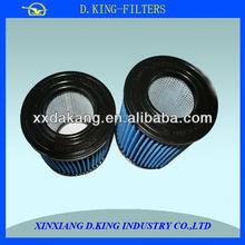 fibra de vidrio de 3 micras cilindro del filtro de aire