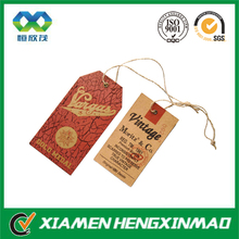 Wholesale leather hang tag for jeans;socks hang tag
