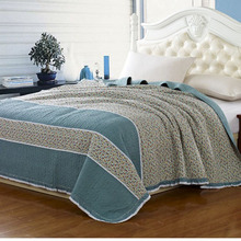 Blue Country Style Custom Printed Bed Sheets ZY006