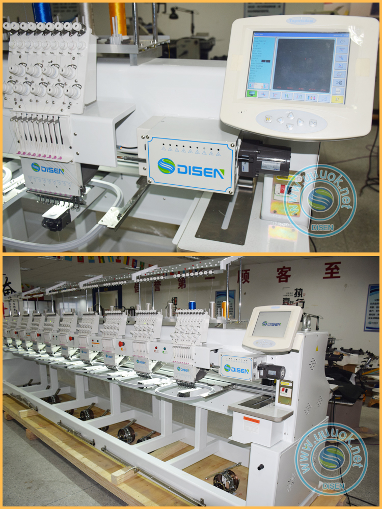 10 head cap maquina bordadora chainstitch 18 heads flat embroider hat multihead industrial computerized embroidery machine