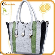2015 hot selling pu patent tote colourful beatiful bag women bag stock available