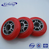 Hot sale red polyurethane roller inline skate board wheels with grey PP core in 80x22mm