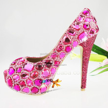 Fashion Heels Wholesale Shoes evening shoes for women Handmade Crystal Shoes