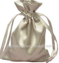 100% polyester satin bag satin pouch with logo print