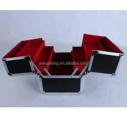 aluminium beauty case with 4 trays factory wholesale