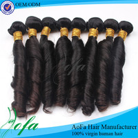 Most hottest no tangle 100% Malaysian Spring Curl human hair extension
