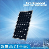 EverExceed High Efficiency 55w Monocrystalline Solar Panel certificated by TUV/VDE/CE/IEC for Customized Solar System