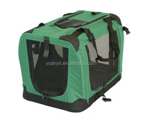 Folding dog cat soft crate carrier pet products