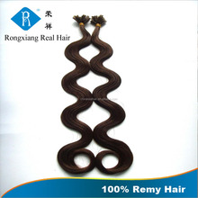 Discount Wholesale Cheap Price 100% Human curly fusion hair extensions