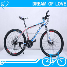 White color 21 speed mountain bike/bicycle sale,double aluminum wheel mountain bicycle