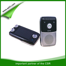 Solar charger mini car kit bluetooth handsfree with DSP