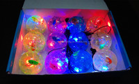 water bouncy ball with toys seriesand and glitter powder led super bouncy ball