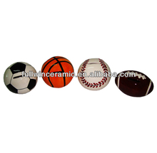 Ceramic Small Sport Ball Coin Banks