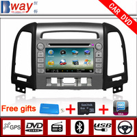 Factory price Car audio player for Hyundai SANTA FE 2012 (Three holes) CAR DVD with GPS car Radio Bluetooth steering wheel