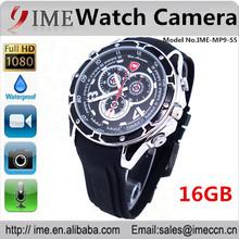 Full HD1080P Voice Actived Wrist camera IR Watch Camera mini DVR hidden pinhole camera built in 16GB