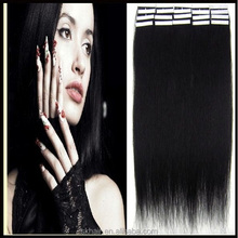 Wholesale High quality raw unprocessed straight virgin peruvian Hair Double Side Tape Remy Hair Extensions 100% human hair