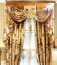 Decorative window crystal beads curtain fashon velvet luxury curtain