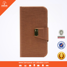 Hot selling removable phone shell style PU leather cheap mobile phone flip case for Samsung S4 S5 model