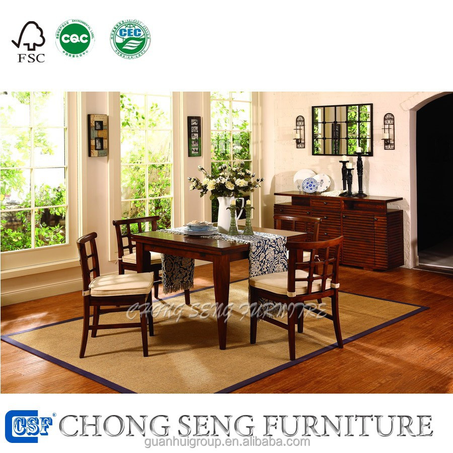 America Style Dining Room Furniture Maple Solid Wood