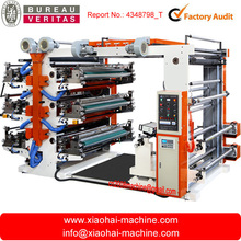 Six colors Flexographic printing machine for Plastic bag