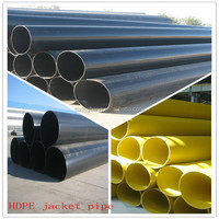 12meter yellow color outer protection plastic HDPE tube