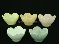 color glazed lotu flower shape bone china bowl ---Made in China