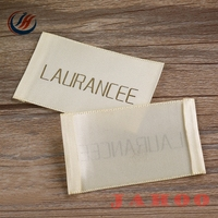 China Supplier Wholesale Cheap Print Custom Clothing Satin Woven Label