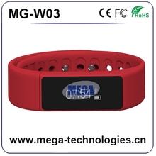 Good quality smart sports health bracelet, bluetooth health rubber band wristband