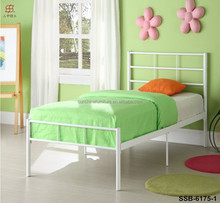 Cheap Bedroom Furniture White/Pink/Green/Blue/Black Modern Kids Iron Bed