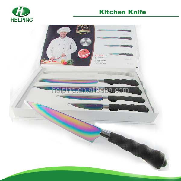 Art design,Colorful and knife in any color with perfect design stainless kitchen knives