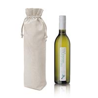 custom 100% cotton drawstring single wine beer bottle bag