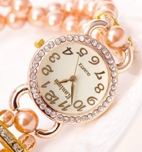 Good Jewelly For Girls's Handmake Pearl Decorative Brand Watches