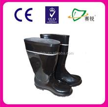 Anti-oil & anti-alkali PVC safety rain boots /protective footwear