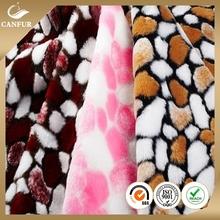 2015 acrylic printed animal faux fur fabric