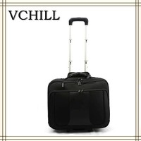 15 inch 1680D custom trolley pilot laptop bag for business travel