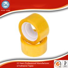 alibaba made in china wholesale yellowish round adhesive bopp packing tape