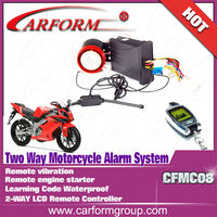 CFMC08 New two way LCD motorcycle security alarm system