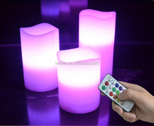 2015 Hot selling RGB LED candles with remote