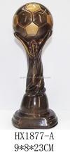 Resin bronze soccer trophy cup