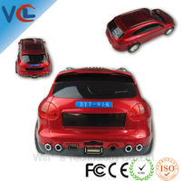 Mini car shape speaker with TF memory card and remote control
