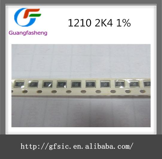 SMD 1/3 와트 칩 저항기 1210 2K4 1%