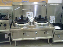 Commercial Kitchen Waterless Cooling gas wok range