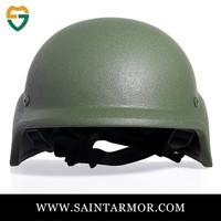 olive green NIJ IIIA 9mm&.44 ballistic police helmet in military and arm