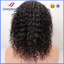 Brazilian Virgin Hair 130% Density Bleached Knots 10-30inch In Stock Kinky Curly Full Lace Wig