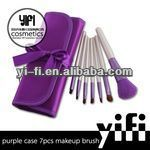 HOT sale! Portable Purple Case 7pcs best makeup brush set free sample