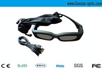 recharge bluetooth video active shutter 3d glasses for export, for sale online